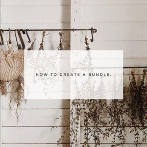 How To Create a Bundle ⇣